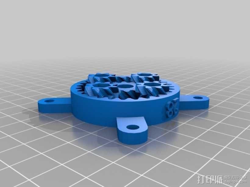 参数化行星齿轮组 3D模型  图3