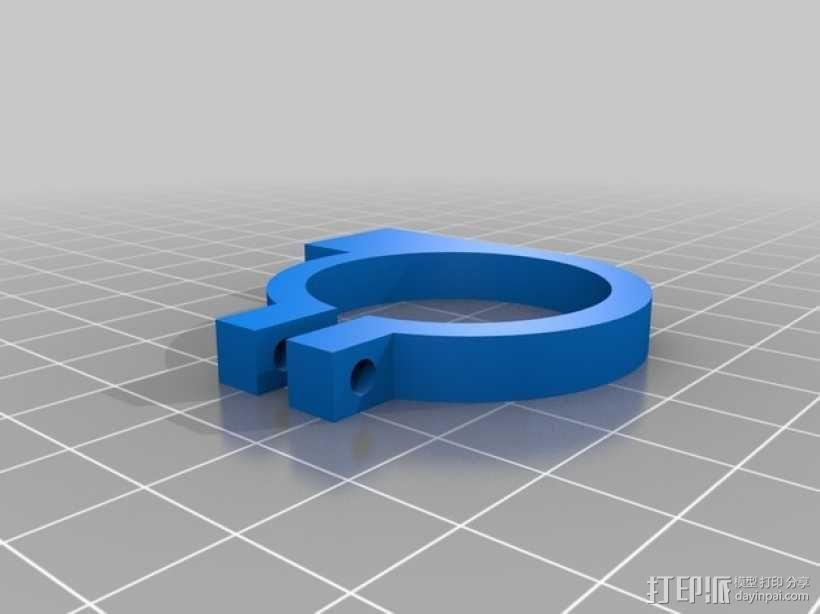 数显卡尺尾座固定夹 3D模型  图2