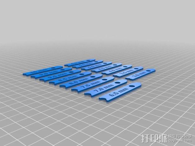 半径量规 3D模型  图2