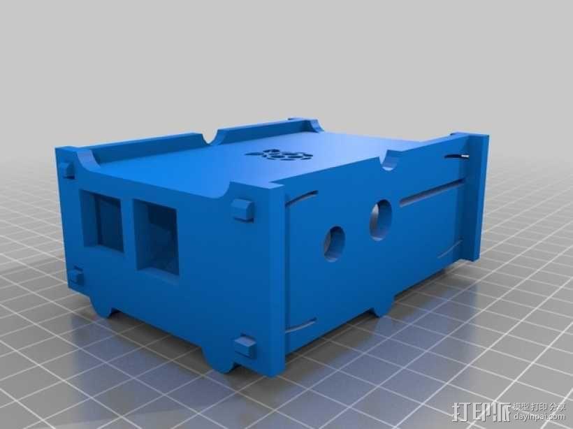 树莓派设备外壳 3D模型  图2