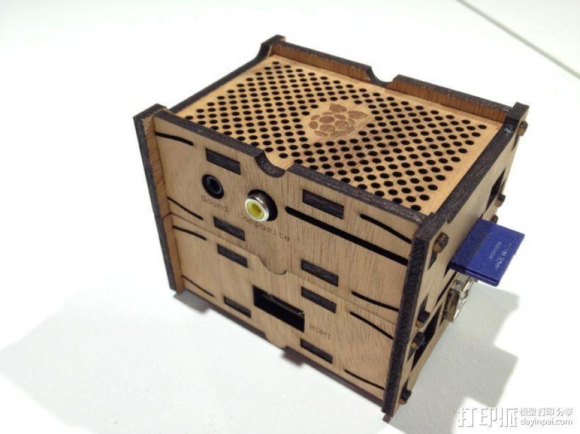 树莓派设备外壳 3D模型  图1