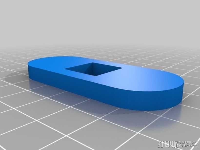 标签卷固定架 3D模型  图2