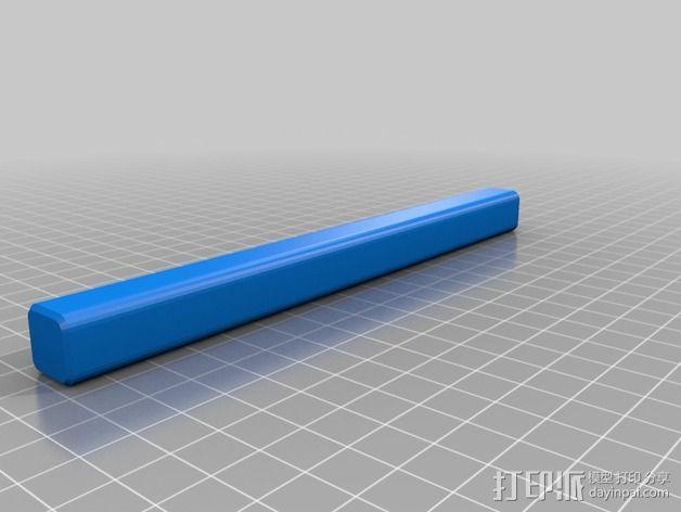 标签卷固定架 3D模型  图3