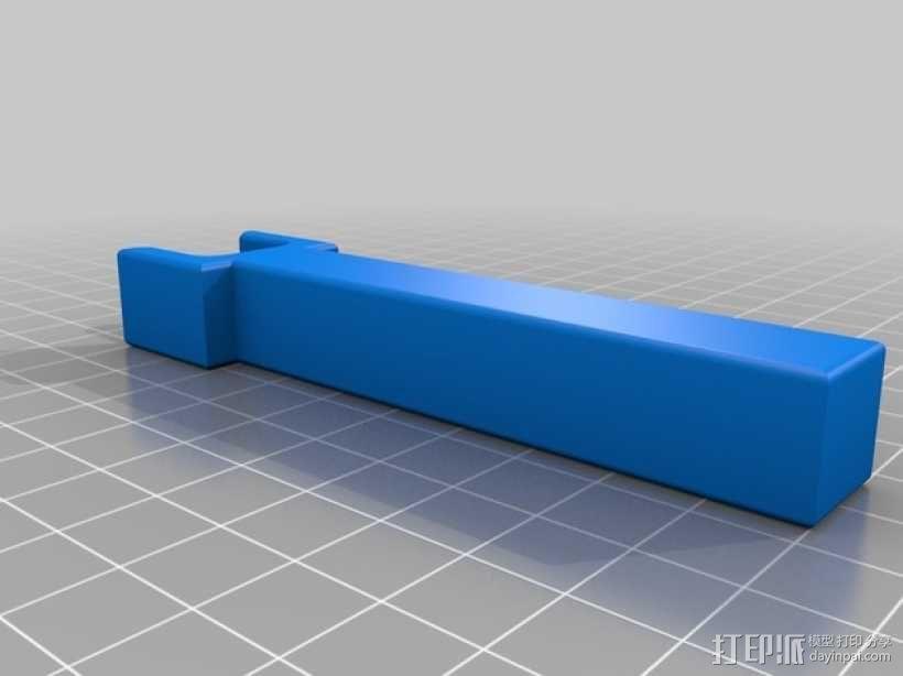 标签卷固定架 3D模型  图5