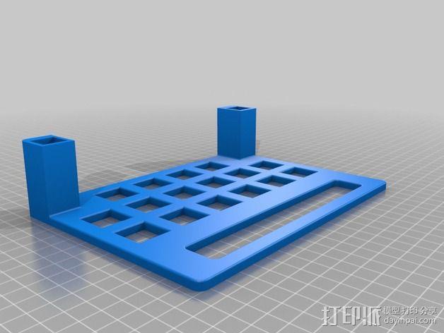 标签卷固定架 3D模型  图4
