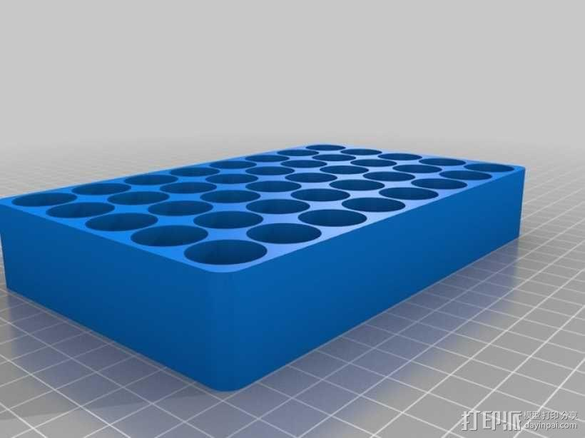 123A 电池托盘 3D模型  图1