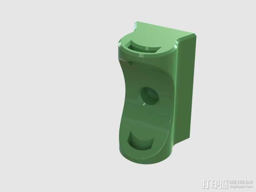 纺车式捲线器固定架 3D模型  图1