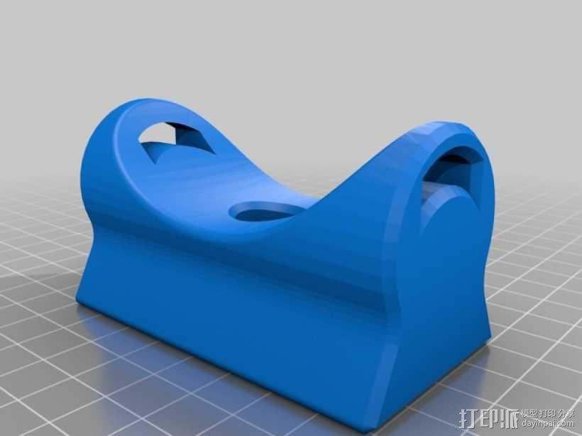 纺车式捲线器固定架 3D模型  图2