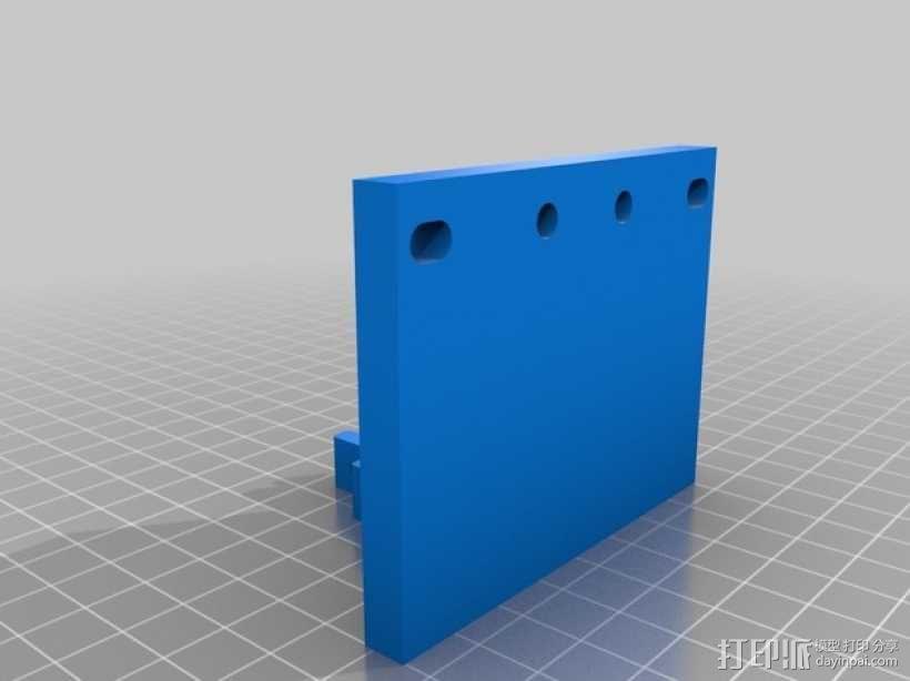 针盘指示表固定架 3D模型  图2