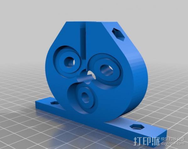 定制化滚珠螺杆 3D模型  图2