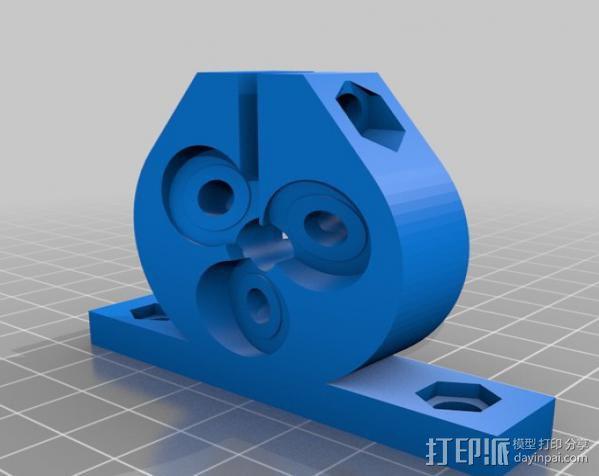 定制化滚珠螺杆 3D模型  图3