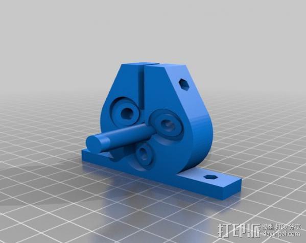 定制化滚珠螺杆 3D模型  图4