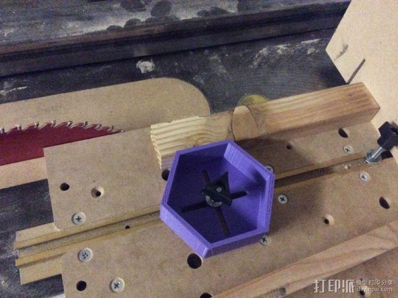 六边形滚动台锯T形槽 3D模型  图1