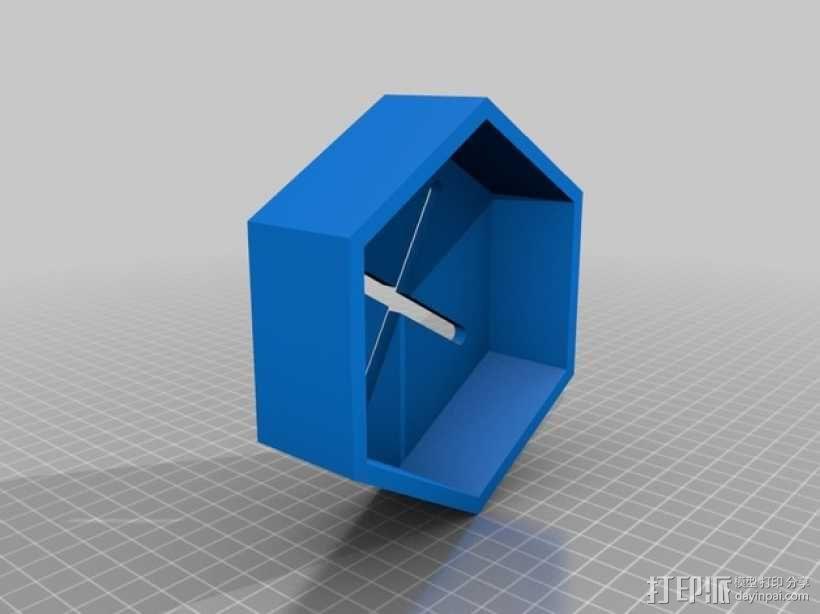 六边形滚动台锯T形槽 3D模型  图2