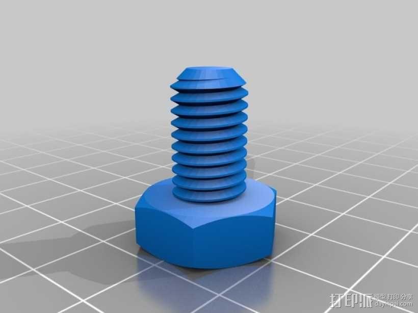 M10螺纹螺栓 3D模型  图3