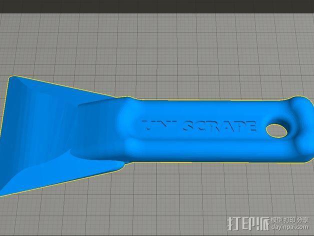 通用刮刀 3D模型  图1