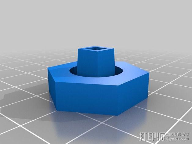 棘轮扳手接合器 3D模型  图2