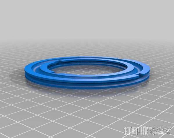 轴承转台 3D模型  图1