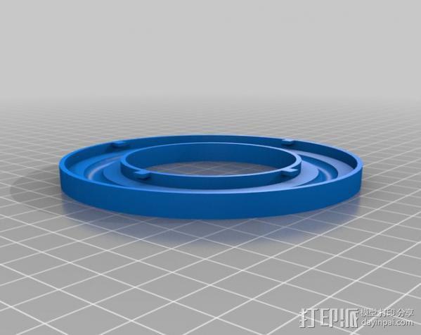 轴承转台 3D模型  图2