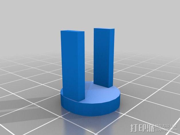 急停开关 3D模型  图2