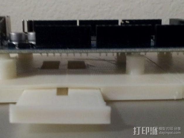 Arduino Mega 2560电路板底座 3D模型  图6