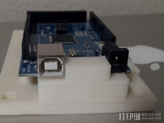 Arduino Mega 2560电路板底座 3D模型  图4