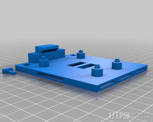 Arduino Mega 2560电路板底座 3D模型  图9