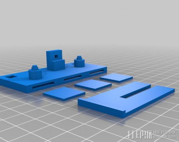 Arduino Mega 2560电路板底座 3D模型  图10