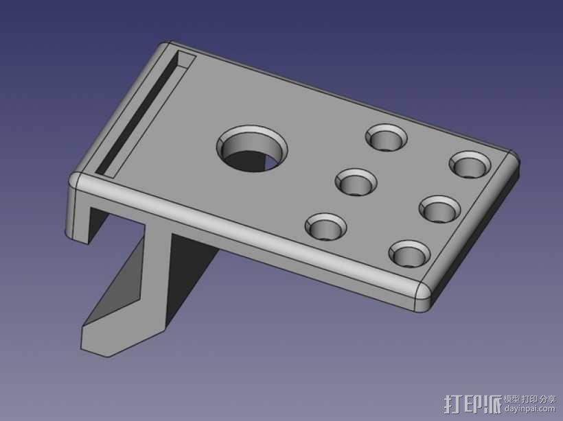 车床活顶尖固定夹 3D模型  图4