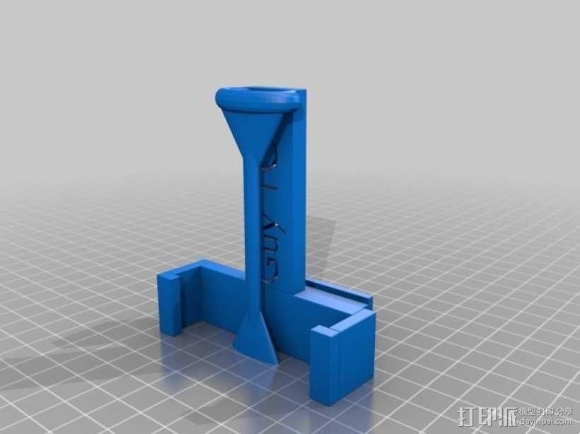 车载 iPhone 5s手机架 3D模型  图2