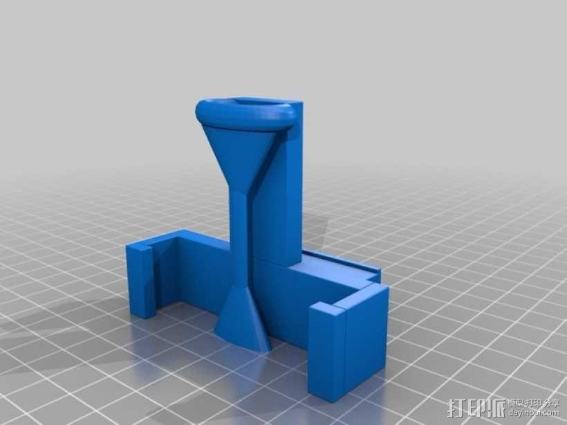 车载 iPhone 5s手机架 3D模型  图3