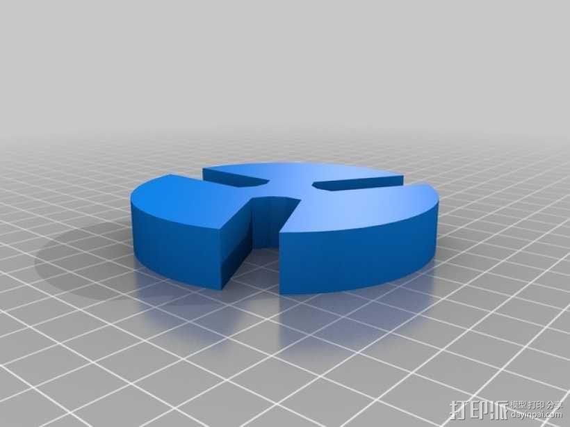 小型车床卡盘 3D模型  图2