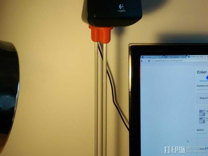 扬声器支架 3D模型  图1