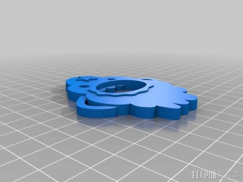 肿泡泡公主 开瓶器 3D模型  图2