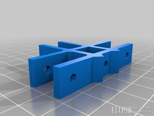 通用框架连接器 3D模型  图2