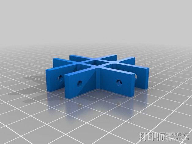 通用框架连接器 3D模型  图1