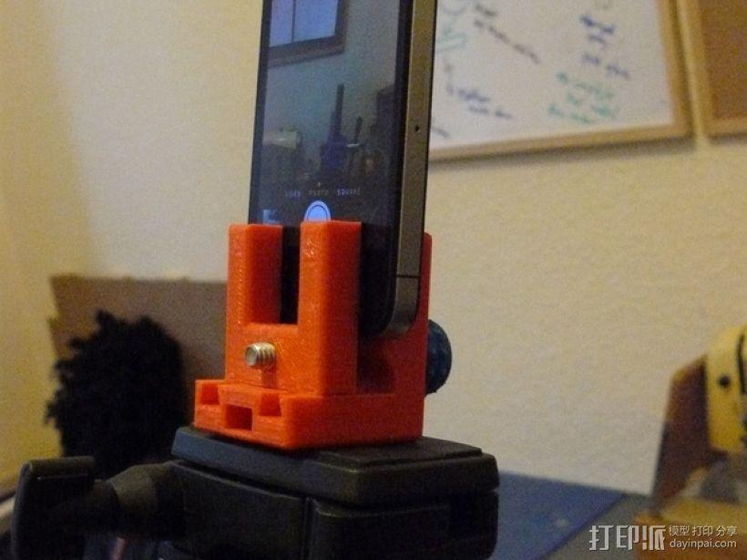 三脚架 手机夹 3D模型  图1