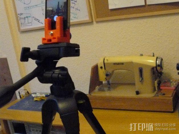 三脚架 手机夹 3D模型  图2