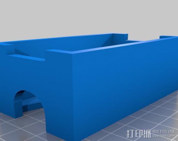 无绳研磨机置放架 3D模型  图2