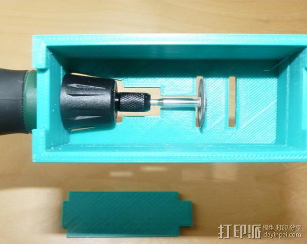 无绳研磨机置放架 3D模型  图7