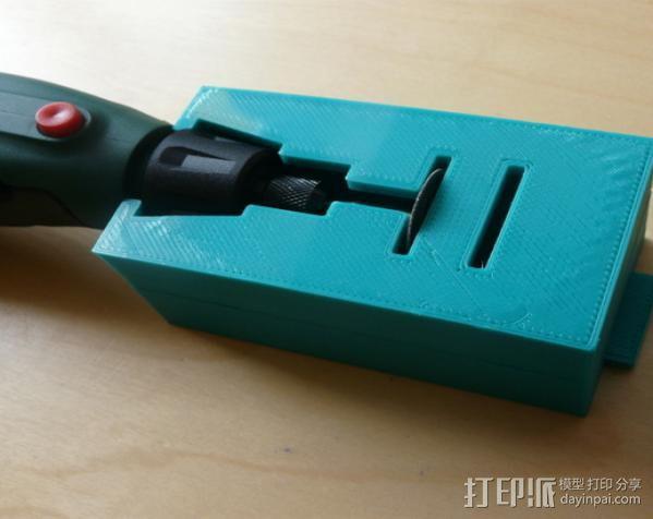 无绳研磨机置放架 3D模型  图10