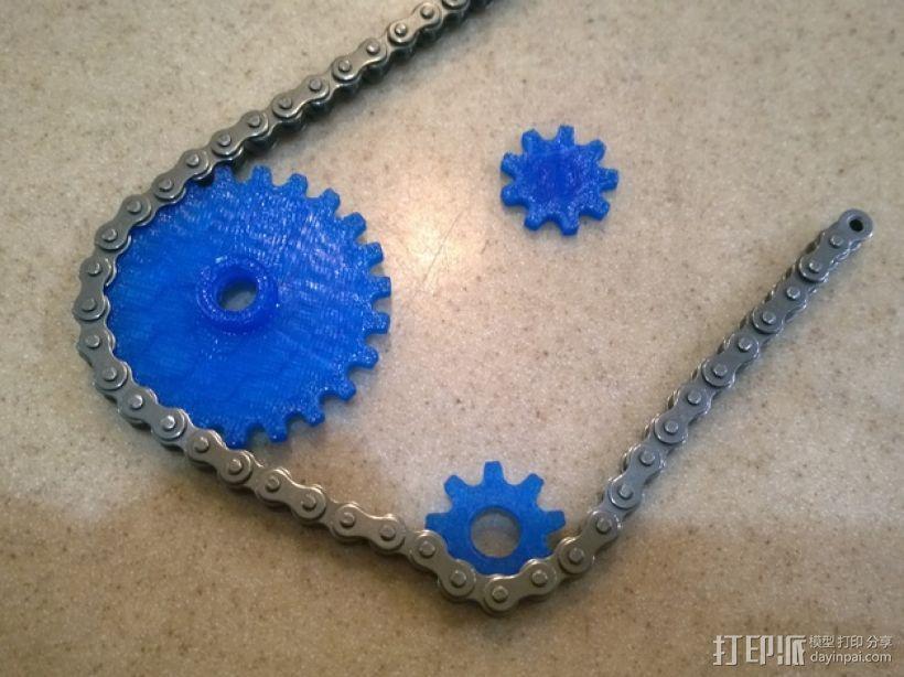 模块化滚子链齿轮 3D模型  图1