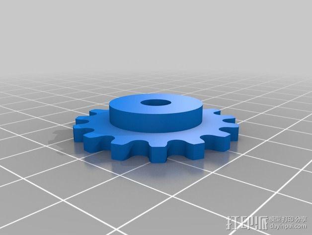 模块化滚子链齿轮 3D模型  图3