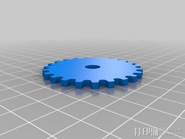 模块化滚子链齿轮 3D模型  图4