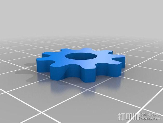 模块化滚子链齿轮 3D模型  图2