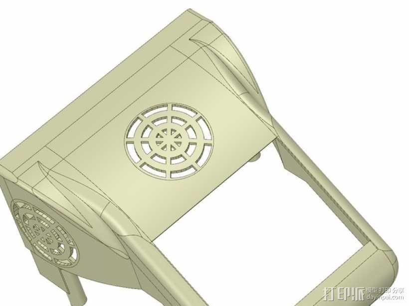 冷却风扇 风扇罩 3D模型  图1