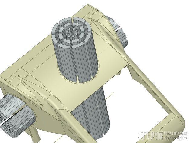 冷却风扇 风扇罩 3D模型  图14