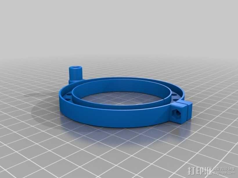 2200瓦主轴变频器 LED照明环 3D模型  图1