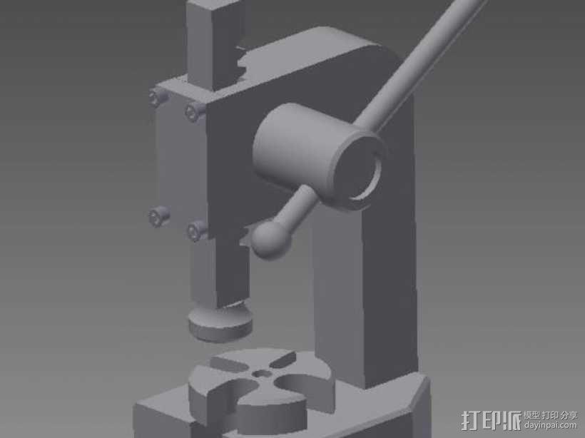 手扳压机 3D模型  图1