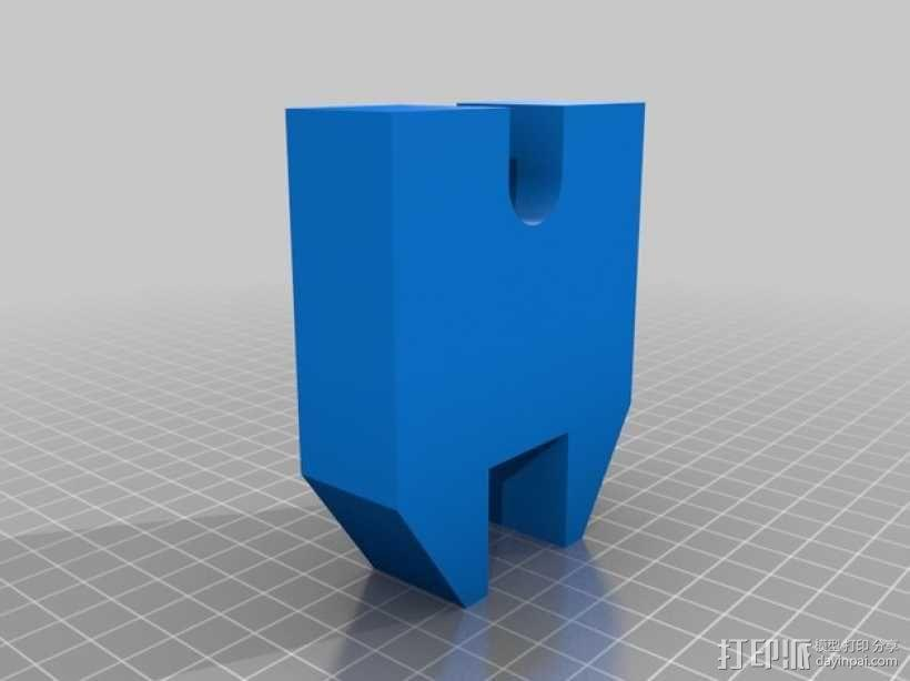 手扳压机 3D模型  图2